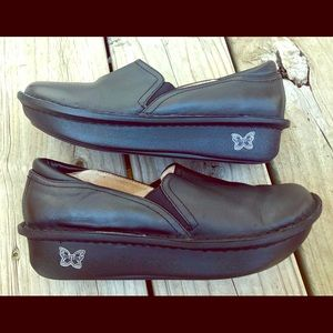Alegria Deb-601 Black leather slip-on size 37